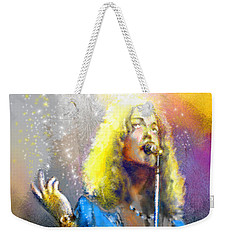 Robert Plant 02 Weekender Tote Bag by Miki De Goodaboom