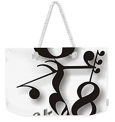Rock 'n Roll Weekender Tote Bag by Maria Watt