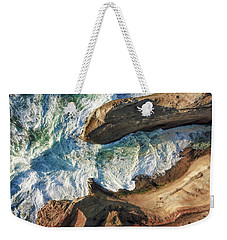 Rocks And Waves Weekender Tote Bag