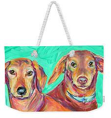 Rocky And Hershey Weekender Tote Bag