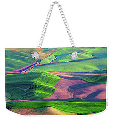 Green Hills Of The Palouse Weekender Tote Bag by James Hammond