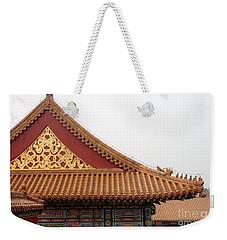 Roof Forbidden City Beijing China Weekender Tote Bag