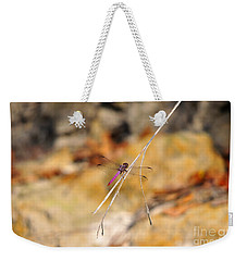 Weekender Tote Bag featuring the photograph Fuchsia Fly by Al Powell Photography USA