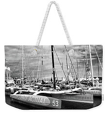Weekender Tote Bag featuring the photograph Route Du Rhum Ready by Elf Evans