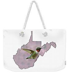 Ruby-throated Hummingbird  Beautiful Coloring Weekender Tote Bag