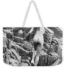 Running Nude Girl On Rocks Weekender Tote Bag
