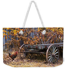 Weekender Tote Bag featuring the photograph Rusty by Robin-Lee Vieira