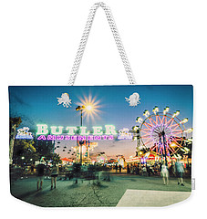 Weekender Tote Bag featuring the photograph Sacramento State Fair- by JD Mims