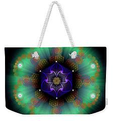 Sacred Geometry 638 Weekender Tote Bag by Endre Balogh