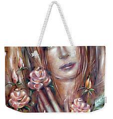 Sad Venus In A Rose Garden 060609 Weekender Tote Bag by Selena Boron