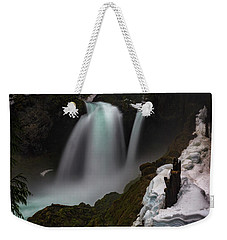Weekender Tote Bag featuring the photograph Sahalie Falls by Cat Connor