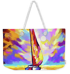 Sailbout Sunset Weekender Tote Bag
