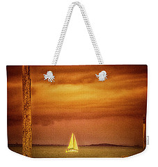 Weekender Tote Bag featuring the photograph Sailing  ... by Chuck Caramella