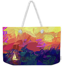 Weekender Tote Bag featuring the photograph Sailing by James Bethanis