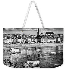Weekender Tote Bag featuring the photograph Saint Servan Anse by Elf Evans