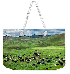 Salt And Pepper Pasture Weekender Tote Bag