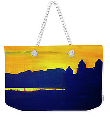 Saltair Sunset Weekender Tote Bag