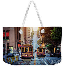 San Francisco Cable Cars Weekender Tote Bag by JR Photography