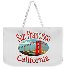 San Francisco California Design Weekender Tote Bag
