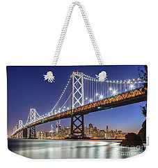 San Francisco City Lights Weekender Tote Bag by JR Photography