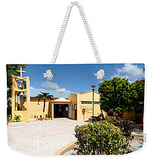 Weekender Tote Bag featuring the photograph San Pedro Roman Catholic Church by Lawrence Burry