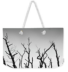 Weekender Tote Bag featuring the photograph Sand Dune With Dead Trees by Chevy Fleet