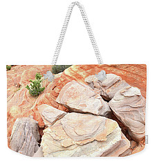 Weekender Tote Bag featuring the photograph Sandstone Cove In Valley Of Fire by Ray Mathis