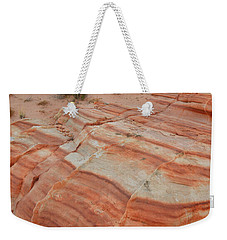 Weekender Tote Bag featuring the photograph Sandstone Stripes In Valley Of Fire by Ray Mathis