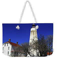 Sandy Hook Lighthouse Weekender Tote Bag by Elsa Marie Santoro