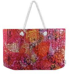 Weekender Tote Bag featuring the painting Sangria Ink #16 by Sarajane Helm