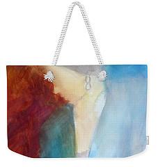 Sarah's Blue Suit Weekender Tote Bag