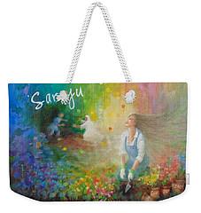 Sarayu Weekender Tote Bag by Janet McGrath