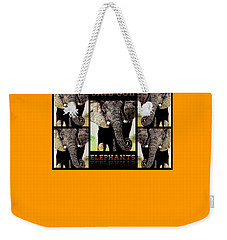 Weekender Tote Bag featuring the painting Save  Our  Elephants by Hartmut Jager