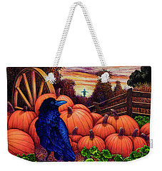 Weekender Tote Bag featuring the painting Scarecrow by Michael Frank