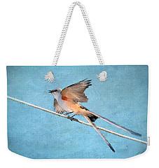 Scissor-tailed Flycatcher Weekender Tote Bag by Betty LaRue