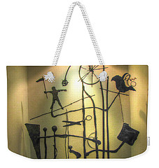 Weekender Tote Bag featuring the pyrography  Sculptur by Yury Bashkin