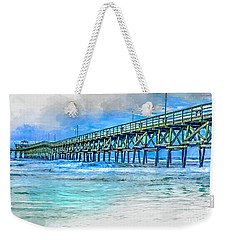 Sea Blue - Cherry Grove Pier Weekender Tote Bag