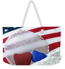 Sea Glass In Patriotic Colors  Weekender Tote Bag