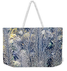 Weekender Tote Bag featuring the photograph Sea Plumes Coral by Perla Copernik
