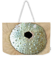 Weekender Tote Bag featuring the photograph Sea Urchin by Anastasiya Malakhova