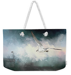 Seagull In Flight Weekender Tote Bag by Sennie Pierson