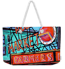 Seattle Public Market Weekender Tote Bag by Marti Green