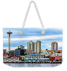 Seattle Skyline Hdr Weekender Tote Bag by Rob Green