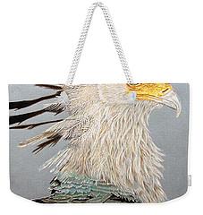 Secretary Bird Weekender Tote Bag by Kathie Miller