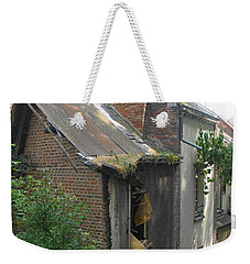 Weekender Tote Bag featuring the photograph Seen Better Days by Therese Alcorn