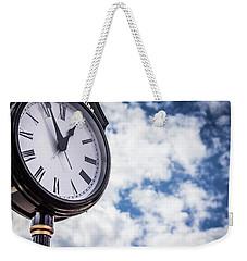 Clock And Clouds In Senoia, Georgia Weekender Tote Bag