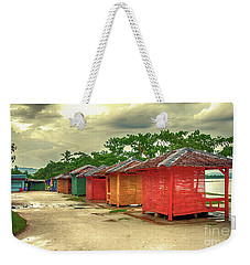 Weekender Tote Bag featuring the photograph Shacks by Charuhas Images