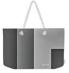 Weekender Tote Bag featuring the digital art Shades Of Grey by Rafael Salazar
