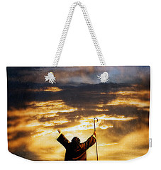 Shepherd Arms Up In Praise Weekender Tote Bag