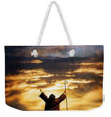 Shepherd Arms Up In Praise Weekender Tote Bag by Jill Battaglia